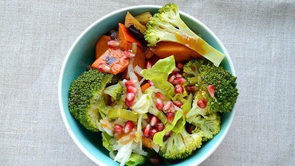 Brokkoli-Kürbis-Bowl