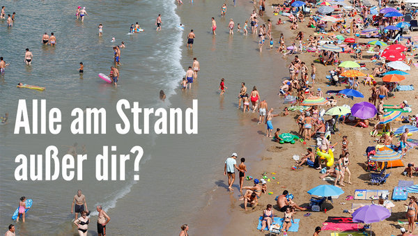 Alle am Strand außer Dir? Egal, wozu gibt es Yoga.