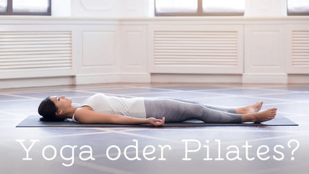 Medium header yoga oder pilates