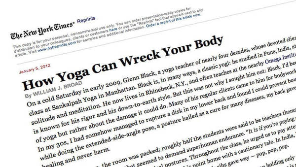 """How yoga can wreck your body"": Gefahr durch Yoga?"