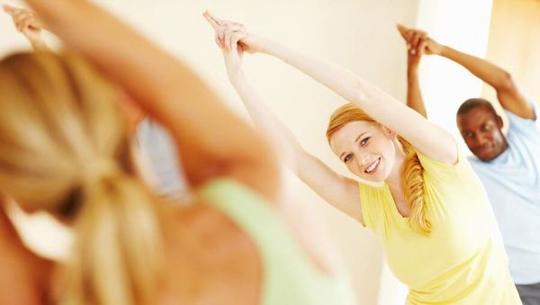 Yoga im Fitnesscenter