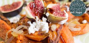 Gebackene Süßkartoffeln mit frischen Feigen