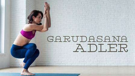Medium yoga asana adler garudasana