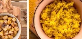 Hirse-Beauty-Bowl mit Birnen-Zimt-Kompott