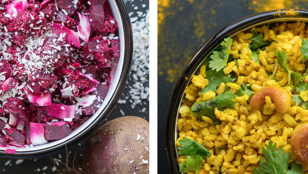 Zitronenreis mit Rote-Bete-Palya