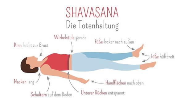 Yoga üben: Alles über Shavasana, die Totenstellung