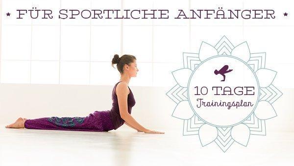 10-Tages-Trainingsplan für sportliche Anfänger