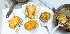 Pastinaken-Zucchini-Puffer