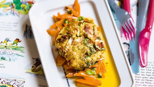 Mangoldtaler mit Vanille-Karotten
