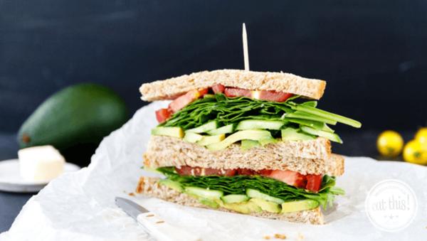 Veganes Frühstücks-Sandwich