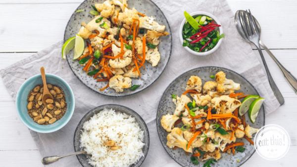 Rezept: Veganer Asiatischer Blumenkohl-Salat