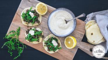 I370 208 eatthis linsen tacos mit tahin joghurt und rucola 1