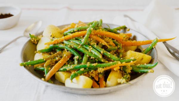Rezept: Veganer Bohnensalat auf Persische Art
