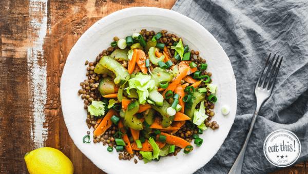 Rezept: Frisches Gemüse mit Puy-Linsen