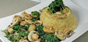 Rezept: Hirse-Spinat mit Champignons