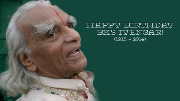 Zum Geburtstag von BKS Iyengar