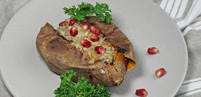 Rezept: Baba Ghanoush auf Süßkartoffel