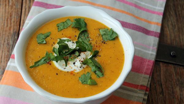 Rezept: Möhren-Ingwer-Suppe mit Chia
