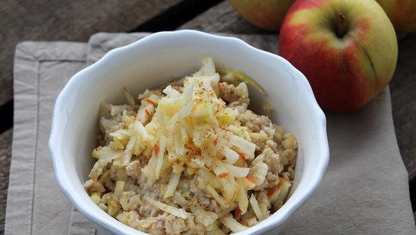 Rezept: Chufas-Porridge mit Apfel