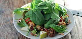 Rezept: Spinat-Salat mit Birne