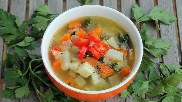 Rezept: Feurige Gemüsesuppe