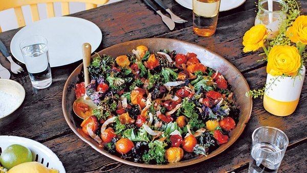 Rezept von Anna Jones: Warmer Grünkohl-Salat