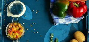 Gemüsepfanne mit Kressequark