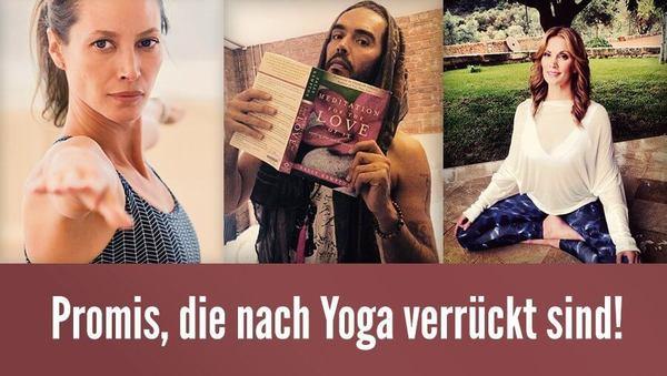 Promis, die nach Yoga verrückt sind