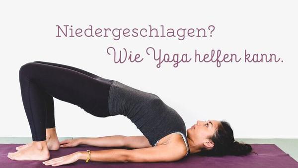 Large header niedergeschlagen  wie yoga helfen kann