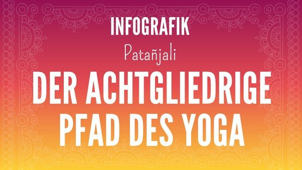 Large visual patanjali 8 gliedriger pfad yoga