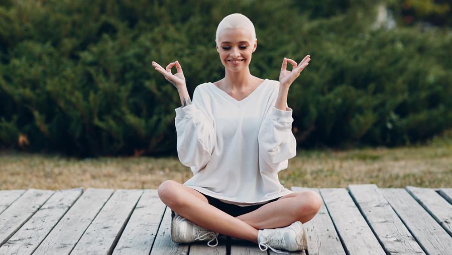 yoga haare glatze