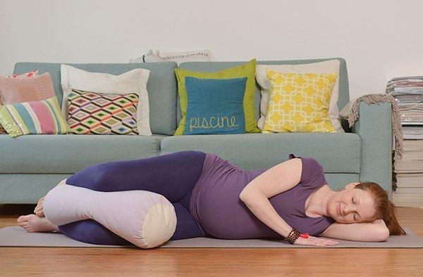 Yoga für Schwangere Savasana