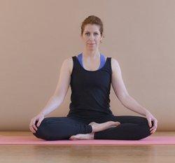 Yoga-Übung Svastikasana