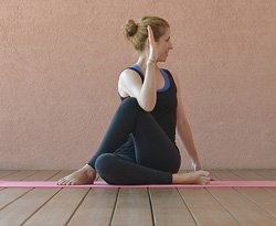 Yoga-Übung Matsyendrasana