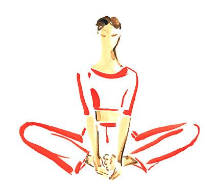 Der Schmetterling: Yoga-Übung für das Wurzelchakra