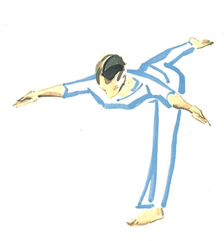 Der Krieger III: Yoga-Übung für das Dritte Auge