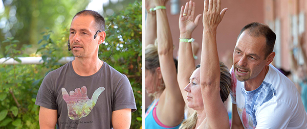 Timo Wahl beim YogaEasy Allstars Retreat 2017