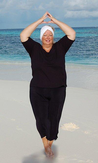 Yoga Asana Baum für dicke Yogis