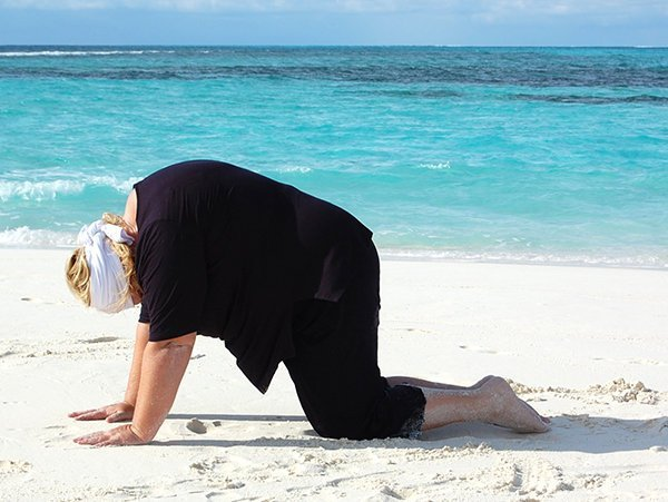 Yoga Asana Katze für dicke Yogis