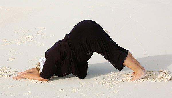 Yoga Asana Delfin für dicke Yogis