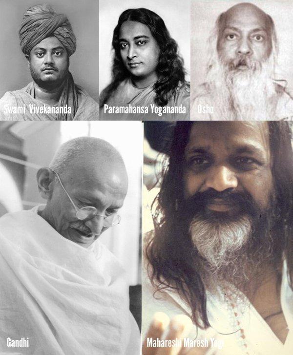 Die wichtigsten Yogalehrer und Gurus