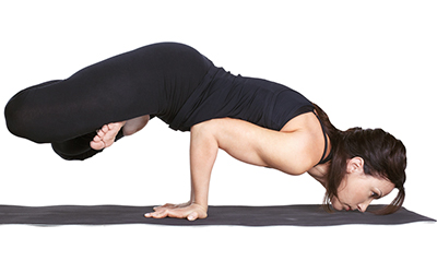 Yoga Padmasana Mayurasana