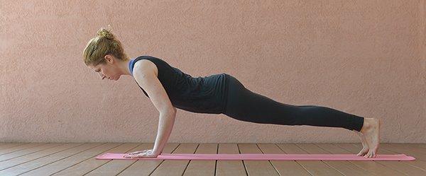 Yoga für mehr Muskeln: Chaturanga Dandasana