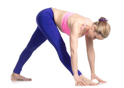 Yoga für die Füße Parshvottanasana