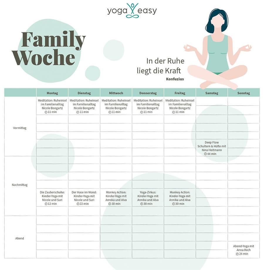 Wochenplan Familie