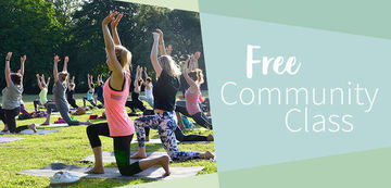 Small large yoga community class