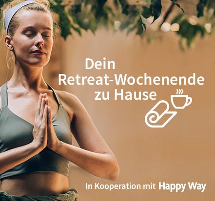 Yoga-Programm Dein Retreat-Wochenende zu Hause mit Happy Way