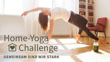 Yoga-Programm Home-Yoga Challenge – gemeinsam sind wir stark