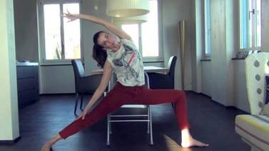 Yoga Video Kleine Yogapause mit dem Stuhl