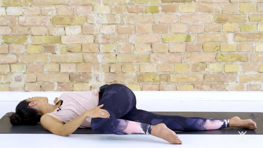 Yoga Video Ankommen und Loslassen am Abend